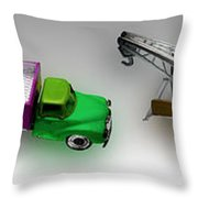 Line Truckin Throw Pillow