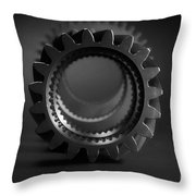 Line Up Black And White Throw Pillow
