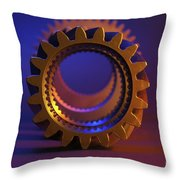 Line Up Color Throw Pillow