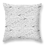 Linear Bulbs Pattern Lite Gray Throw Pillow