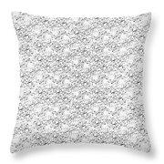 Linear Bulbs Pattern Whitesilver Black Throw Pillow