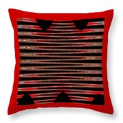 Linear Lesson In Black And Red Throw Pillow