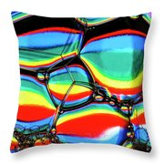 Lined Bubbles Throw Pillow
