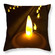 Lined Lights Throw Pillow