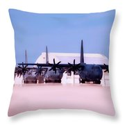 Lined Up And Ready Throw Pillow