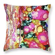 Lines And Bubbles Throw Pillow