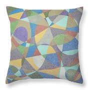 Lines And Curves Throw Pillow