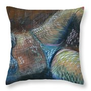 Lines And Curves Vi Throw Pillow