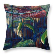 Lines And Light Throw Pillow