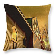 Lines And Reflections Throw Pillow