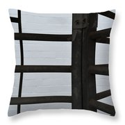 Lines And Spaces Throw Pillow