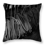 Lines Bw Throw Pillow