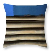 Lines Of A Train Car Throw Pillow
