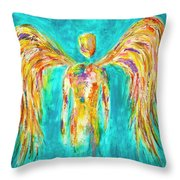 Lines Of Color In The Sky Throw Pillow