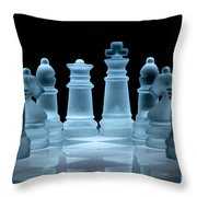 Lines Of Defence Throw Pillow by Ann Garrett