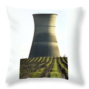 Lines To Power Tower Throw Pillow