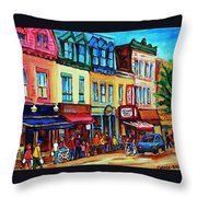 Lineup For Smoked Meat Sandwiches Throw Pillow