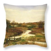 Lingering Autumn Throw Pillow