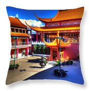 Lingyen Mountain Temple 8 Throw Pillow