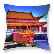 Lingyen Mountain Temple 9 Throw Pillow
