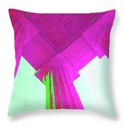 Linocln Column Pink Throw Pillow