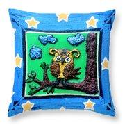 Lint Owl Throw Pillow