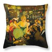 L'interieur De Chez Bruant. Le Mirliton Throw Pillow