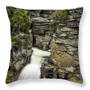 Linville Falls The Upper View Throw Pillow