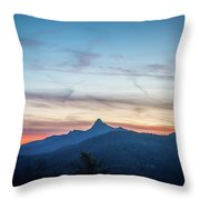 Linville Gorge Wilderness Mountains At Sunset Throw Pillow