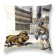 Lion & Gladiator Throw Pillow