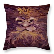 Lion Abstract Throw Pillow