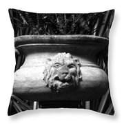 Lion And Serpents Throw Pillow