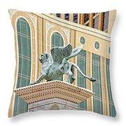 Lion Angel Throw Pillow