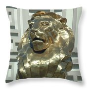 Lion At Mgm Throw Pillow