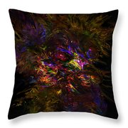 Lion Aura Throw Pillow