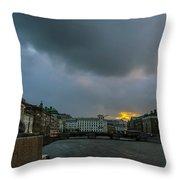 Lion Dock  Throw Pillow