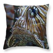 Lion Fish Profile Throw Pillow