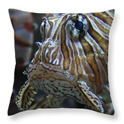 Lion Fish Profile Throw Pillow
