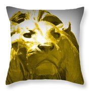 Lion Gold Throw Pillow