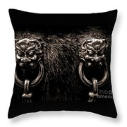 Lion Head Handle Throw Pillow