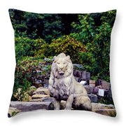 Lion In A Concrete Jungle Throw Pillow