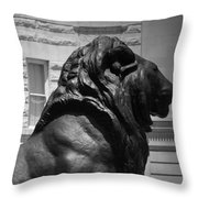 Lion In The Spring Throw Pillow
