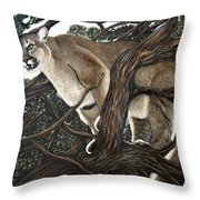 Lion In The Tree Throw Pillow