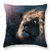 Lion Light Throw Pillow by Bill Stephens
