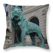 Lion Looking Out Throw Pillow