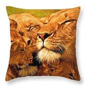 Lion Love #2 Throw Pillow