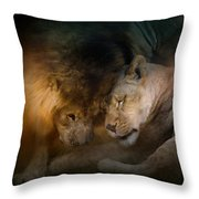 Lion Love Throw Pillow