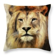 Lion Majesty Throw Pillow