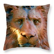 Lion Of Saint Augustine Throw Pillow