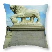 Lion On The North Side Throw Pillow